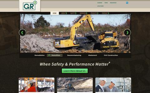 Screenshot of Home Page gr2llc.com - GR2 — - captured Sept. 27, 2014