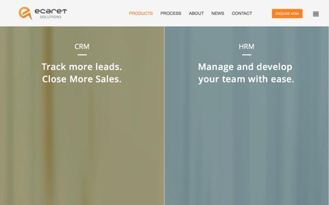 Screenshot of Products Page ecaret.com.au - Our Products | Custom CRM Development | HRM Software | ERP system | Custom Softwares{ - captured Jan. 23, 2016