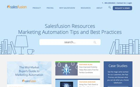Screenshot of Blog Case Studies Page salesfusion.com - Marketing Automation Resources for Thought | Salesfusion - captured Jan. 27, 2019
