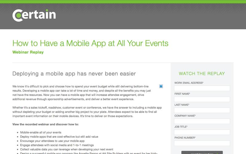 How to Have a Mobile App at All Your Events