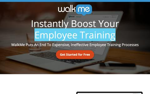 Screenshot of Landing Page walkme.com - Instantly Boost Your - WalkMe™ - Digital Adoption Platform - captured Sept. 27, 2018