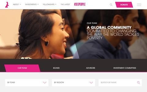Screenshot of Team Page acumen.org - Acumen | Team - - captured Oct. 20, 2017