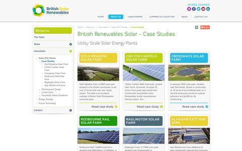 Screenshot of Case Studies Page britishrenewables.com - Case Studies | British Solar Renewables |  Renewable Energy - captured Nov. 3, 2014