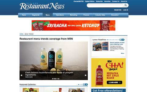 Screenshot of Menu Page nrn.com - Menu Trends   Nation's Restaurant News - captured Feb. 15, 2016