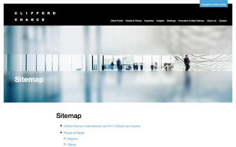 Screenshot of Site Map Page cliffordchance.com - Clifford Chance | Sitemap - captured Nov. 6, 2019