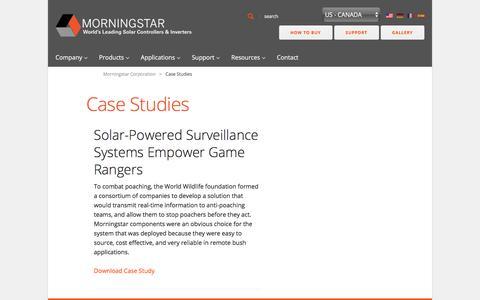 Screenshot of Case Studies Page morningstarcorp.com - Case Studies - Morningstar Corporation - captured April 23, 2018