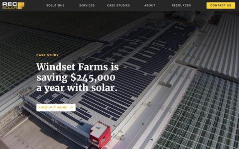 Screenshot of Home Page recsolar.com - Home | REC Solar Commercial Corporation - captured April 14, 2017