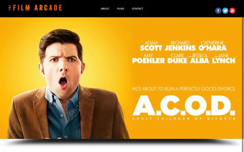 Screenshot of Home Page thefilmarcade.com - Front Page | The Film Arcade - captured Sept. 30, 2014
