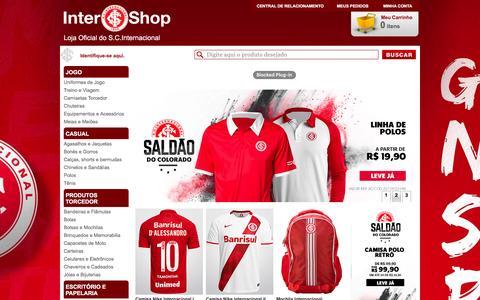 Screenshot of Home Page lojadointer.com.br - Loja do Inter – A Loja Oficial do S.C. Internacional na Internet - captured Jan. 20, 2016