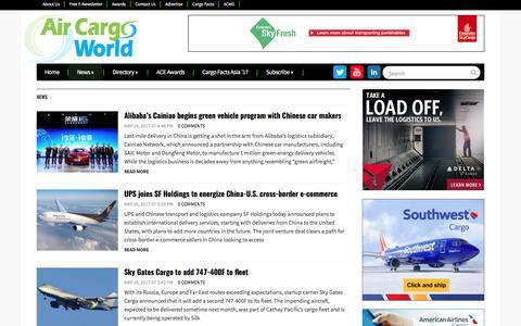 Screenshot of Press Page aircargoworld.com - News | Air Cargo World - captured May 29, 2017