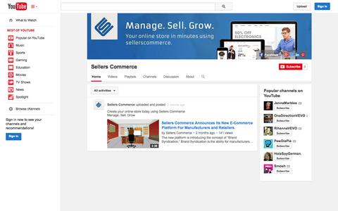 Screenshot of YouTube Page youtube.com - Sellers Commerce  - YouTube - captured Oct. 27, 2014