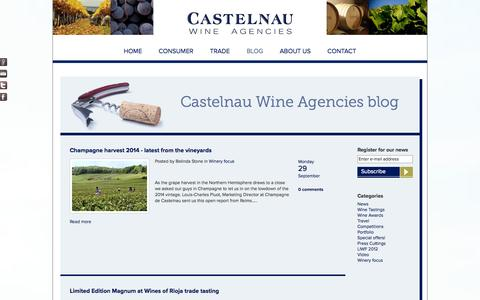 Screenshot of Blog castelnau.co.uk - Castelnau Wine Agencies | Patriarche Wine Agencies blog - captured Oct. 2, 2014