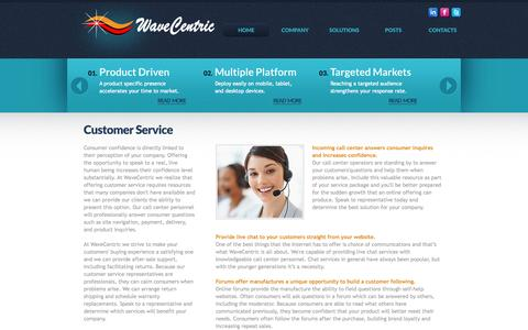 Screenshot of Support Page wavecentric.com - WaveCentric Provides Targeted Marketing Solutions That Produce Stronger Results - captured Oct. 7, 2014