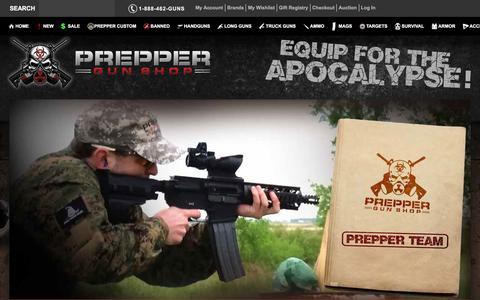 Screenshot of About Page preppergunshop.com - Prepper Guns About Us Prepper Gun Shop - captured Jan. 18, 2016