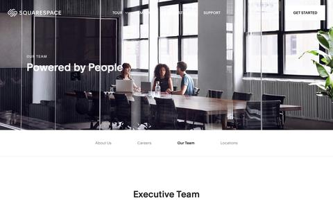 Screenshot of Team Page squarespace.com - Our Team – Squarespace - captured Feb. 11, 2019