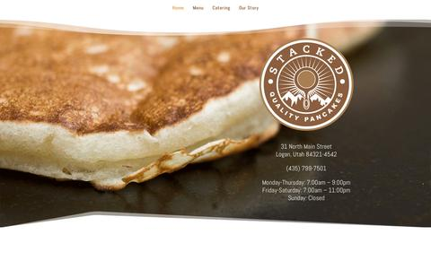 Screenshot of Home Page stacked-pancakes.com - Stacked! | Quality Pancakes - captured Sept. 30, 2018