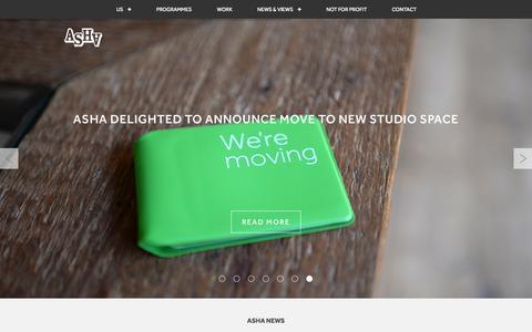 Screenshot of Home Page ashawebsite.co.uk - ArthurSteenHorneAdamson   Brand Strategy - captured June 18, 2015