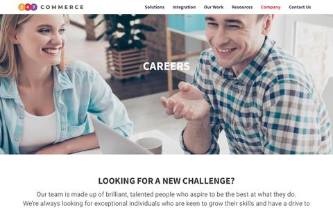 Screenshot of Jobs Page 247commerce.co.uk - Come and Work at 247 Commerce | 247 Commerce - captured Oct. 19, 2018