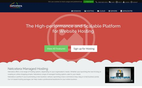 Screenshot of Contact Page netcetera.co.uk - Managed Hosting Solutions From Netcetera - captured Nov. 4, 2014