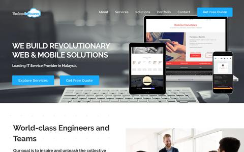 Screenshot of Home Page technosoftwares.com.my - Home - Top Web & Software Development Company in Malaysia - captured Sept. 14, 2019