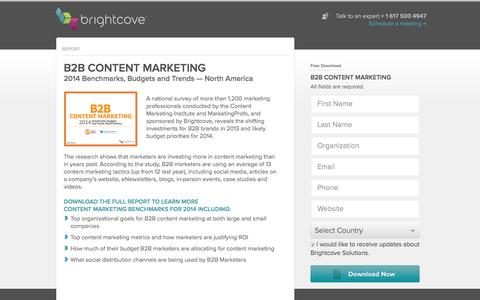 Screenshot of Landing Page brightcove.com - Brightcove | B2B Content Marketing - captured Dec. 17, 2015