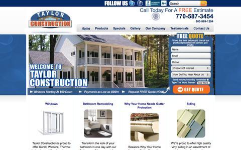 Screenshot of Home Page Privacy Page taylorconstruction.com - Atlanta Home Improvement | Siding Atlanta | Replacement Windows Atlanta - captured Oct. 9, 2014