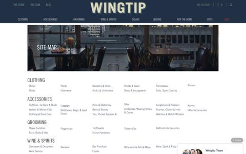 Screenshot of Site Map Page wingtip.com - Site Map | Wingtip - captured Oct. 3, 2016