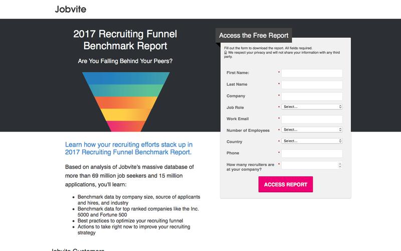 2017 Recruiting Funnel Benchmark Report