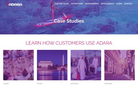 Screenshot of Case Studies Page adara.com - Read our Case Studies to learn how customers use ADARA - captured Nov. 20, 2017