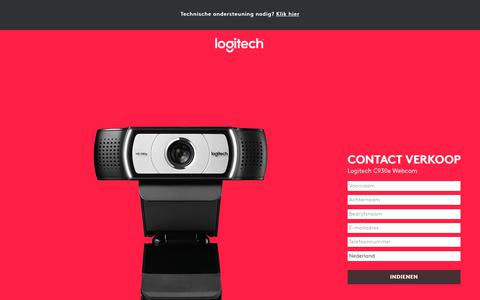 Screenshot of Landing Page logitech.com - Logitech C930e Webcam | Contact Us - captured March 2, 2018