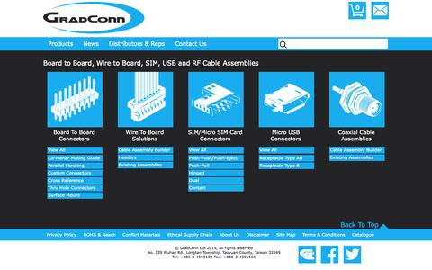 Screenshot of Products Page gradconn.com - Product Ranges | GradConn - captured Oct. 28, 2014