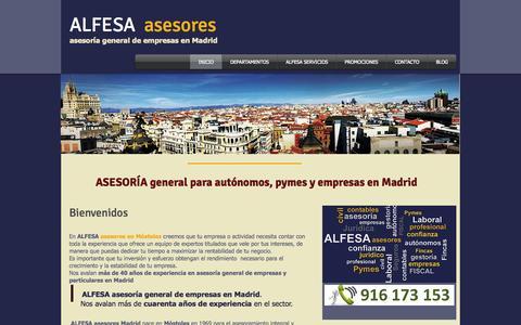 Screenshot of Home Page alfesa-asesores.es - Asesoría general de empresas en Madrid y Toledo - captured Oct. 4, 2014