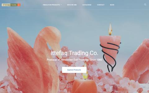 Screenshot of Home Page ittefaqco.com - Himalayan Crystal Salt Supplier | Rock Salt Exporter in Pakistan | Ittefaq Trading Co. - captured Oct. 15, 2017