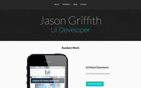 Screenshot of Home Page organicpixels.net - Jason Griffith | UI Developer - captured Sept. 20, 2018