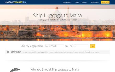 Ship Luggage to Malta | Ship Suitcases to Malta