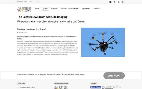 Screenshot of Press Page altitude-imaging.com - The Latest News from Altitude Imaging - captured Feb. 5, 2016