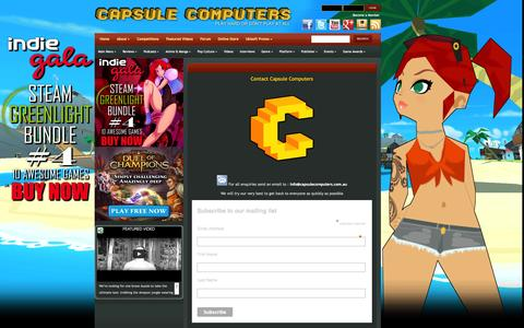 Screenshot of Contact Page capsulecomputers.com.au - Contact Us | Capsule Computers - Gaming & Entertainment News, Reviews, Interviews & Competitions - captured Sept. 23, 2014