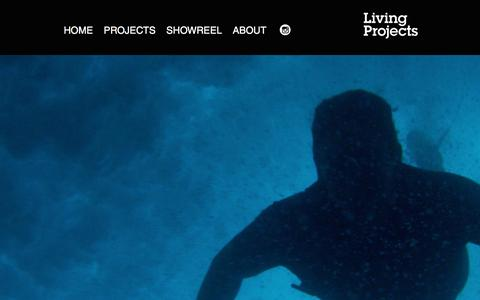 Screenshot of Home Page living-projects.co.uk - Living Projects is a commercials & digital film production company. - captured May 21, 2017