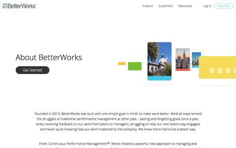 Employee Engagement & Goal Setting | About BetterWorks
