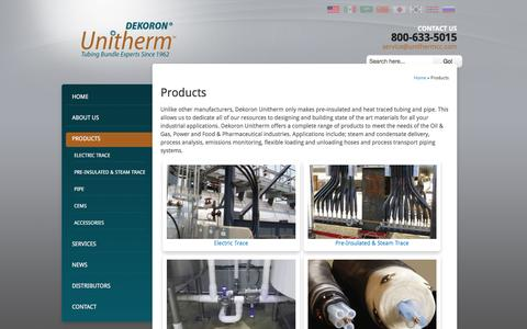 Screenshot of Products Page unithermcc.com - | Products - captured Jan. 9, 2017