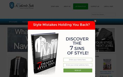 Screenshot of Home Page atailoredsuit.com - Men's Clothing Style & Fashion Guide | Classic & Casual – - captured June 7, 2017