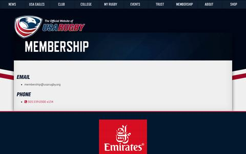 Screenshot of Support Page usarugby.org - Support – USA Rugby - captured Oct. 3, 2017