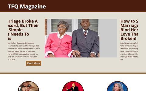 Screenshot of Home Page tfqmagazine.org - TFQ Magazine - captured May 9, 2016