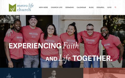 Screenshot of Home Page metrolife.org - Metro Life Church: Casselberry, FL - captured Oct. 17, 2018