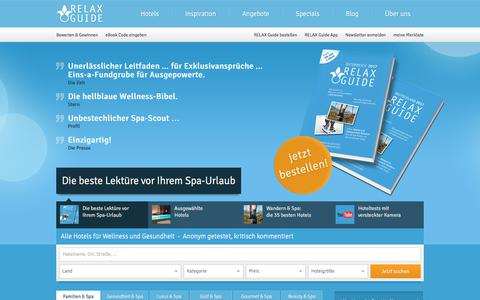 Screenshot of Home Page relax-guide.com - Wellnesshotels im Test   RELAX Guide Hotelbewertungen - captured June 29, 2017