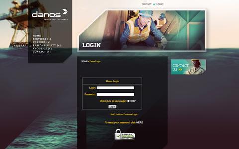 Screenshot of Login Page danos.com - Danos Employee Network - captured Sept. 30, 2014