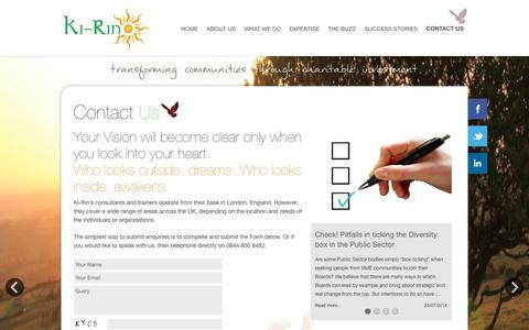 Screenshot of Contact Page ki-rin.com - Contact Us - Ki-Rin - captured Sept. 30, 2014