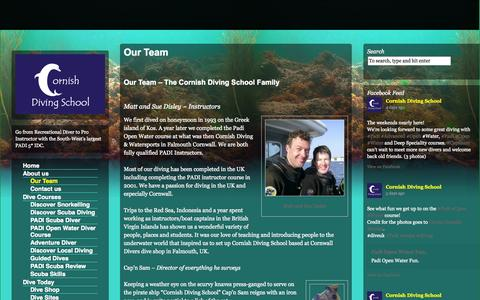 Screenshot of Team Page cornishdivingschool.co.uk - Our Team - The Cornish Diving School Family - captured Oct. 28, 2014