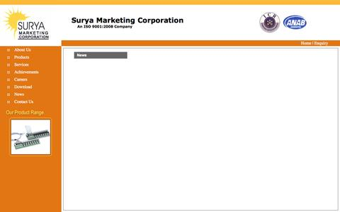 Screenshot of Press Page suryamarketing.com - Welcome to Surya Marketing - captured Oct. 7, 2014