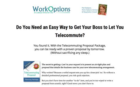 Screenshot of workoptions.com - Here's the Fastest Way to Get Telecommuting Approved - captured Nov. 24, 2017